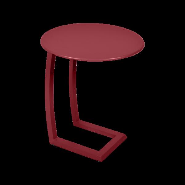 table basse chaise longue rouge, table basse aluminium, table basse bain de soleil