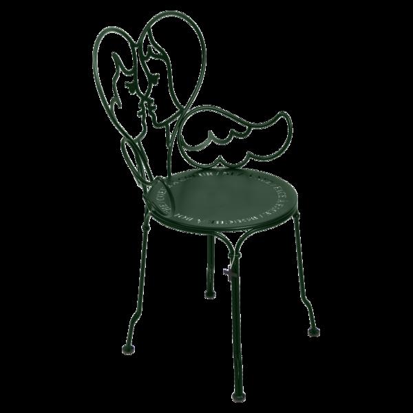 chaise ange vert, chaise castelbajac, chaise design, chaise romantique, chaise coeur, chaise metal design
