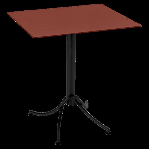 Table 60x70 cm bicolore ariane ocre rouge