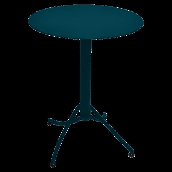 Table Ø 60 cm monochrome ariane bleu acapulco