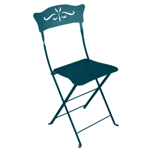 Chaise bagatelle bleu acapulco