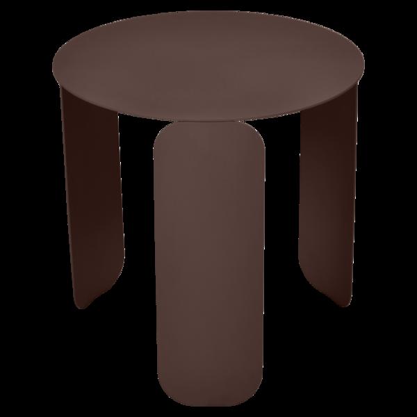 table basse design, table basse metal, table basse fermob, table basse marron