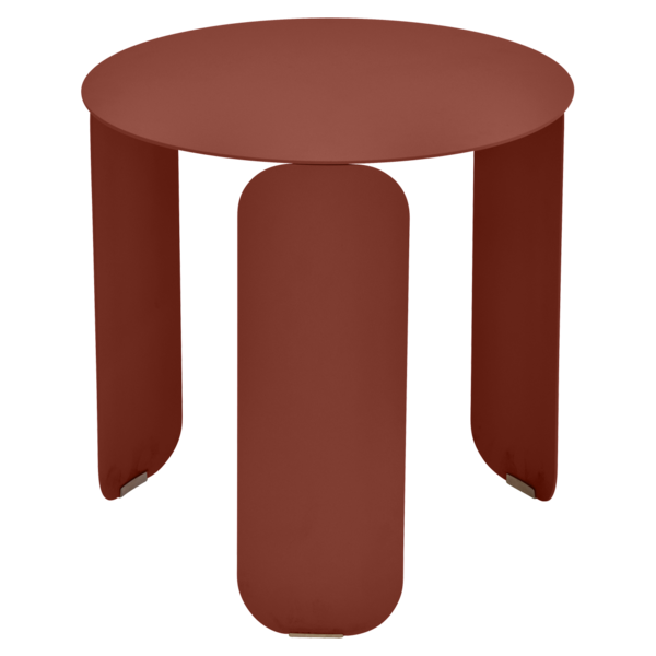 Table basse Ø 45 cm bebop ocre rouge