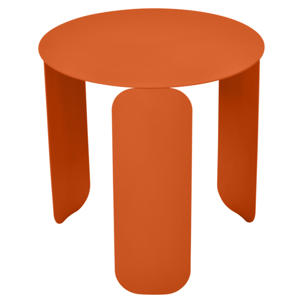 table basse design, table basse metal, table basse fermob, table basse orange