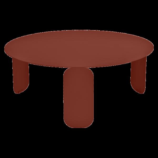 Table basse Ø 80 cm bebop ocre rouge