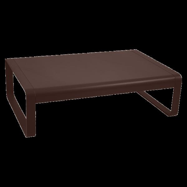 table basse metal, table basse de jardin, table basse marron