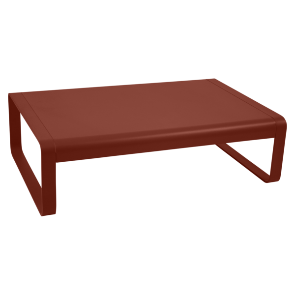 Table basse bellevie ocre rouge