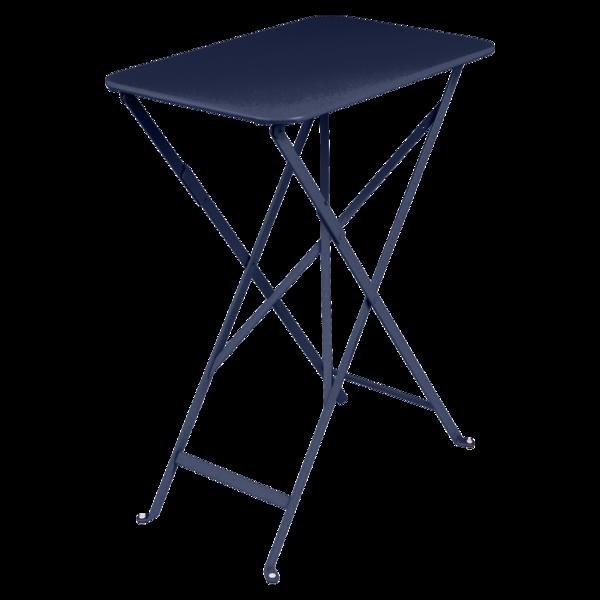 petite table pliante, petite table metal, table balcon, petite table bleu