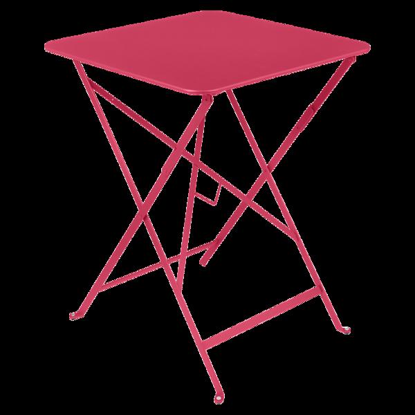 petite table metal, table fermob, table rose
