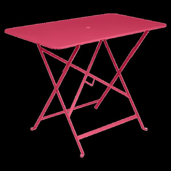 petite table metal, table de jardin fermob, table bistro, petite table pliante, table rose