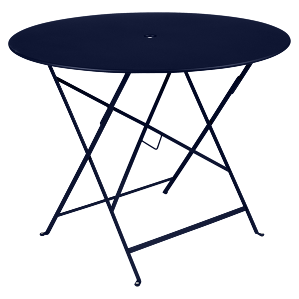 table pliante, table metal, table ronde, table bleu, table fermob, table bistro