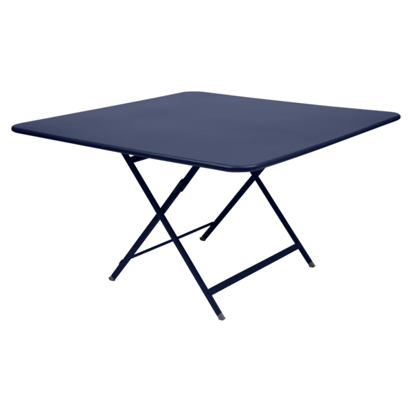 table de jardin pliante, table metal carree, table metal 8 personnes, table de jardin bleu, table metal bleu