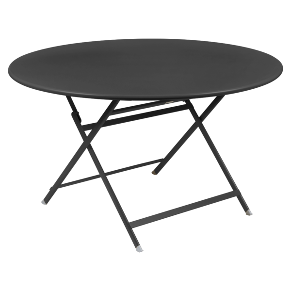 table de jardin pliante, table metal ronde, table metal 7 personnes, table de jardin noire, table metal noire