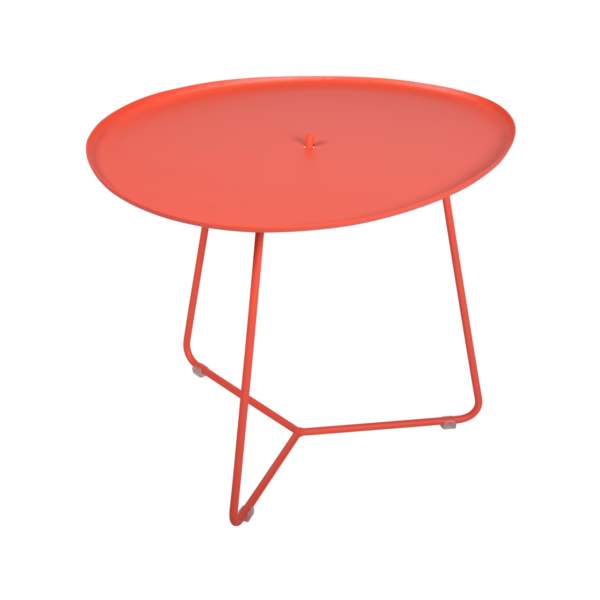 table basse metal, table basse fermob, table basse de jardin, table basse rose