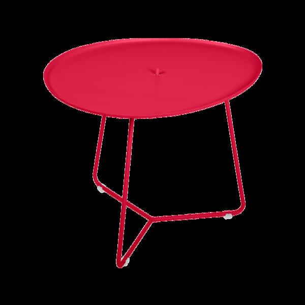 table basse metal, table basse fermob, table basse de jardin, table basse rose
