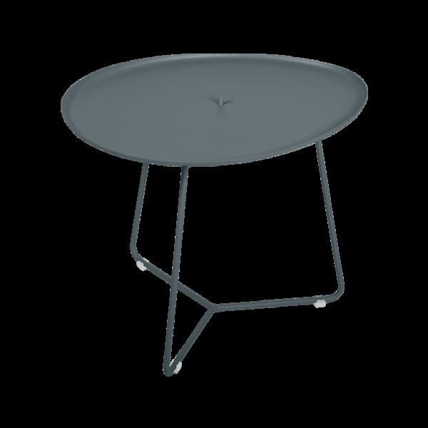 table basse metal, table basse fermob, table basse de jardin, table basse gris