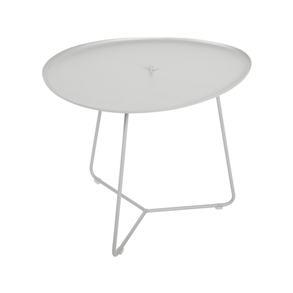 table basse metal, table basse fermob, table basse de jardin, table basse gris