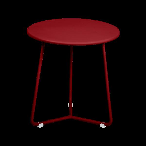 tabouret bas metal, table de chevet, table d appoint, petite table basse rouge