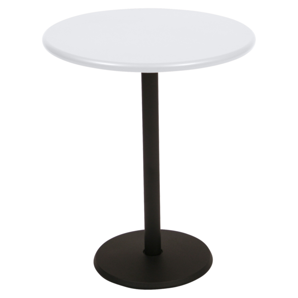 gueridon rond, gueridon bar, petite table restaurant, petite table blanche