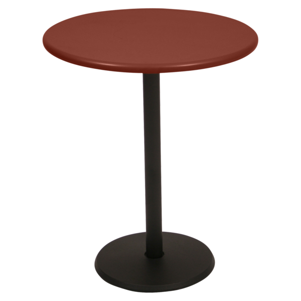 Table Ø 60 cm concorde ocre rouge