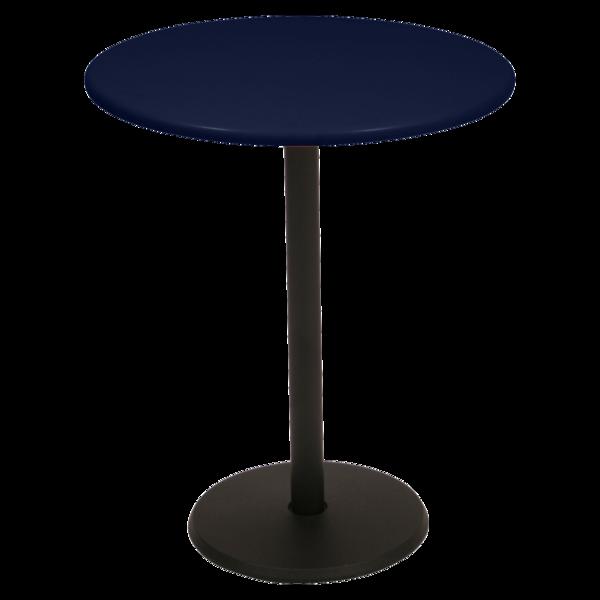 gueridon rond, gueridon bar, petite table restaurant, petite table bleu