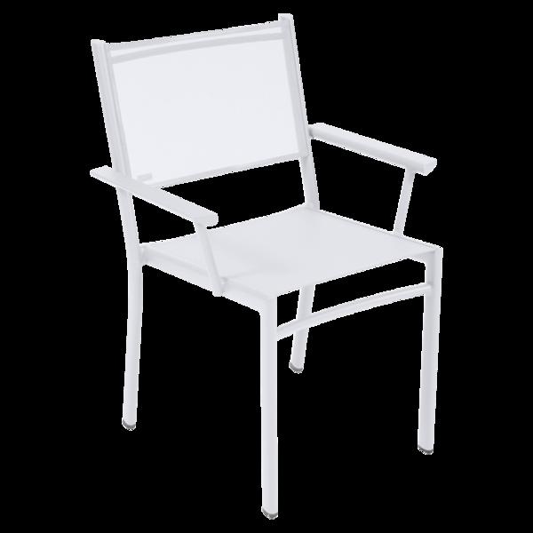 chaise fermob, chaise en toile, fauteuil de jardin fermob, chaise fermob blanche