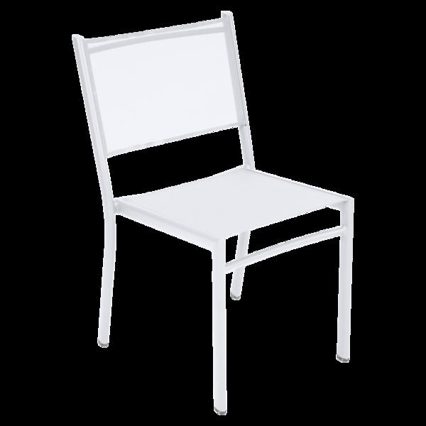 chaise en toile, chaise de jardin, chaise fermob, chaise terrasse, chaise de jardin blanche