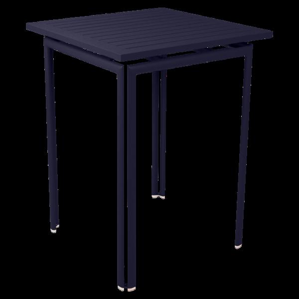 table haute metal, mange debout, table haute fermob, table haute bleu