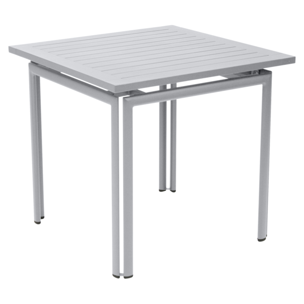 table metal, table de jardin, table rectangulaire, table blanche, table 4 personnes