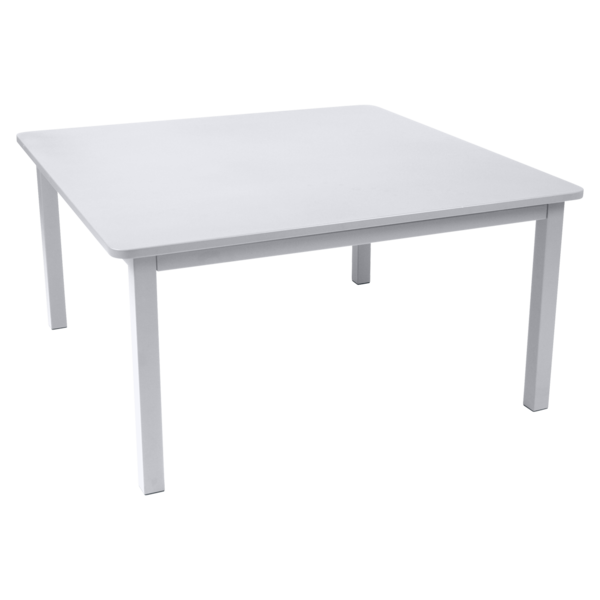 table de jardin, table metal, table carre, table 8 personnes, table blanche