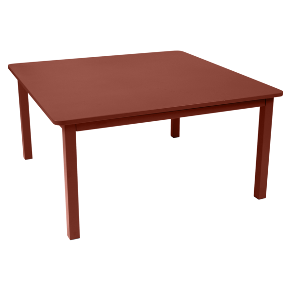 Table 143 x 143 cm craft ocre rouge
