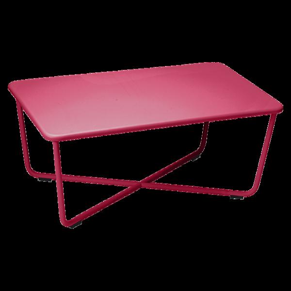 table basse metal, salon de jardin, table basse rose