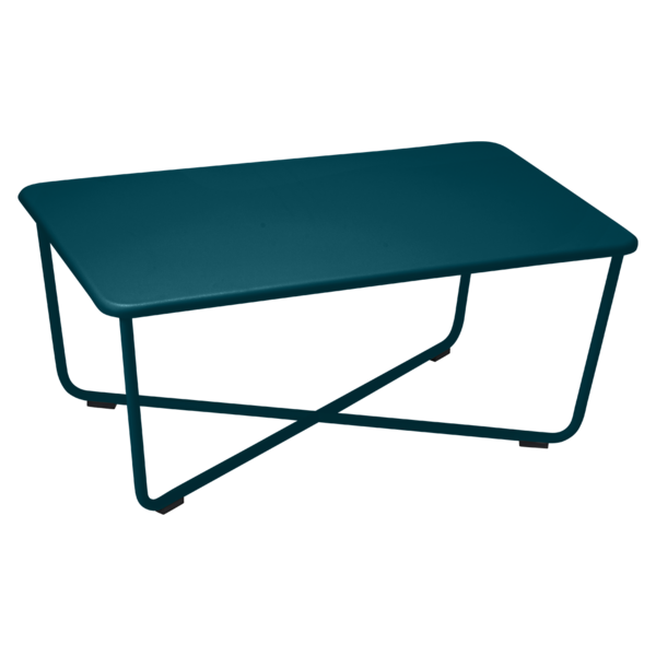 Table basse croisette bleu acapulco