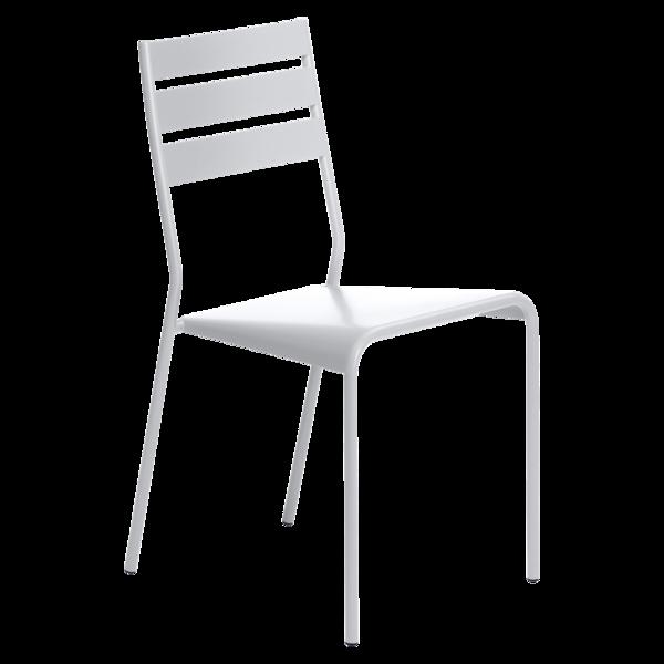 chaise metal, chaise terrasse, chaise blanche, chaise fermob