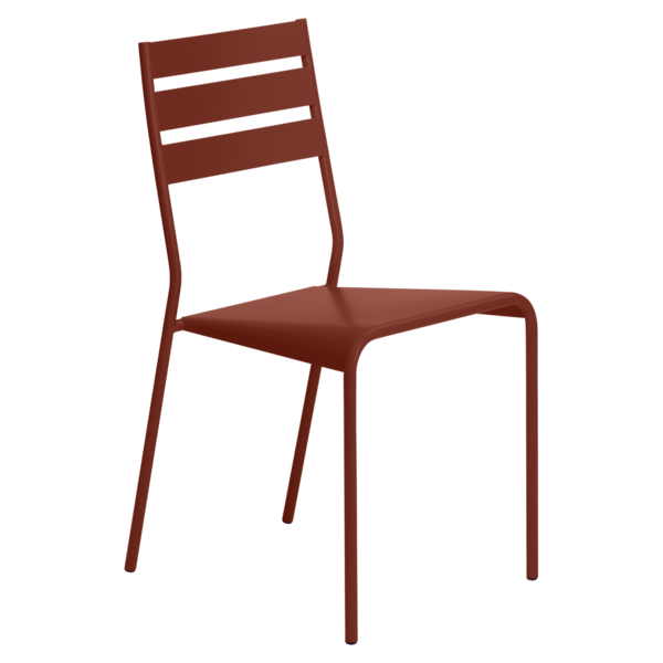 Chaise facto ocre rouge