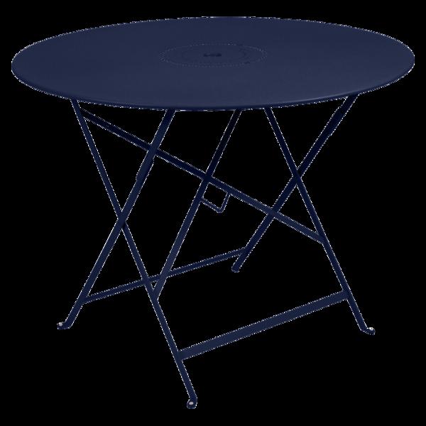 table ronde metal, table ronde jardin, table ronde terrasse, table de jardin, table bleu