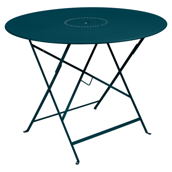 Table Ø 96 cm floreal bleu acapulco