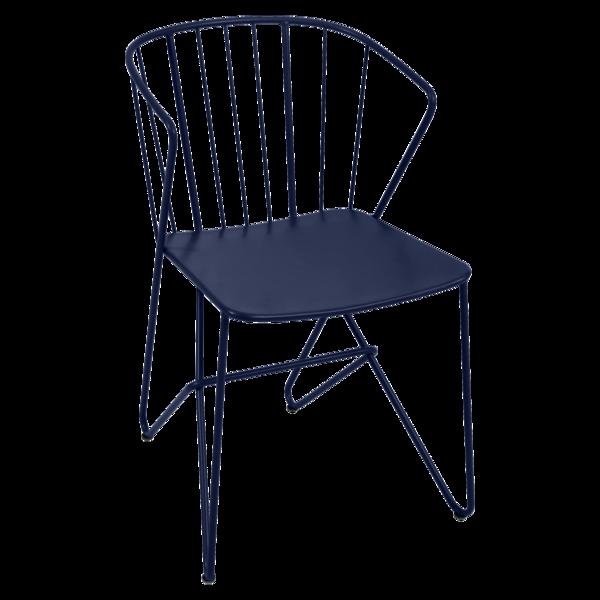 chaise metal, chaise original, chaise design, chaise de jardin, chaise bleu