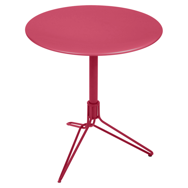 petite table ronde, petite table metal, gueridon metal, table balcon, petite table beige