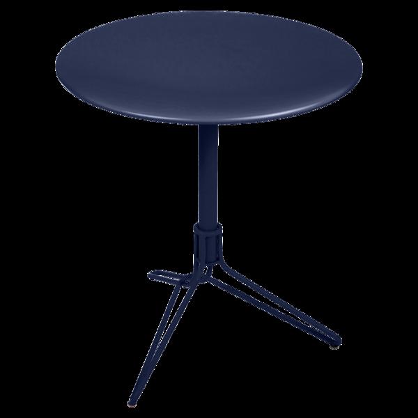 petite table metal, petite table ronde, petite table terrasse, table balcon, gueridon metal, petite table bleu