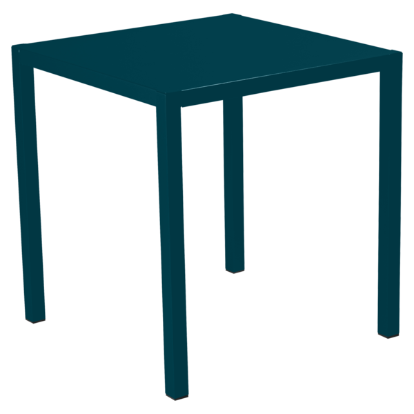 Table 70 x 70 cm inside out bleu acapulco
