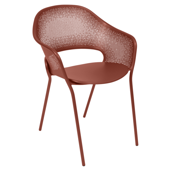 Fauteuil Kate ocre rouge