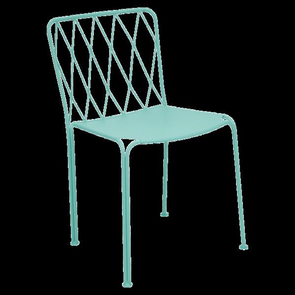 Chaise Kintbury, chaise en métal, mobilier de jardin