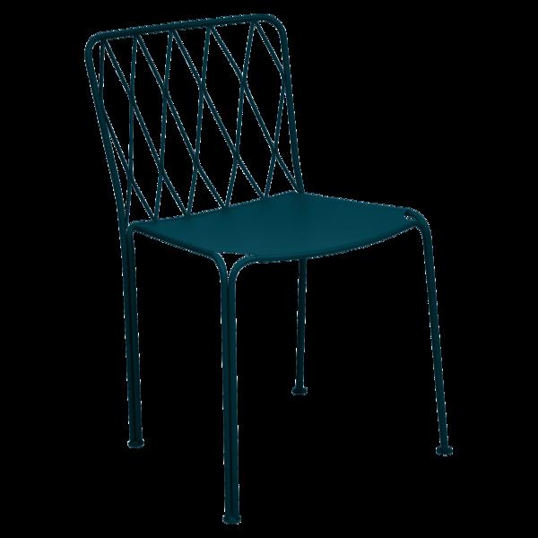 Chaise kintburry bleu acapulco