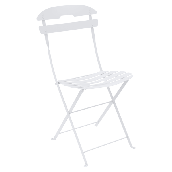 chaise pliante metal, chaise metal, chaise fermob, chaise pliante, chaise blanche