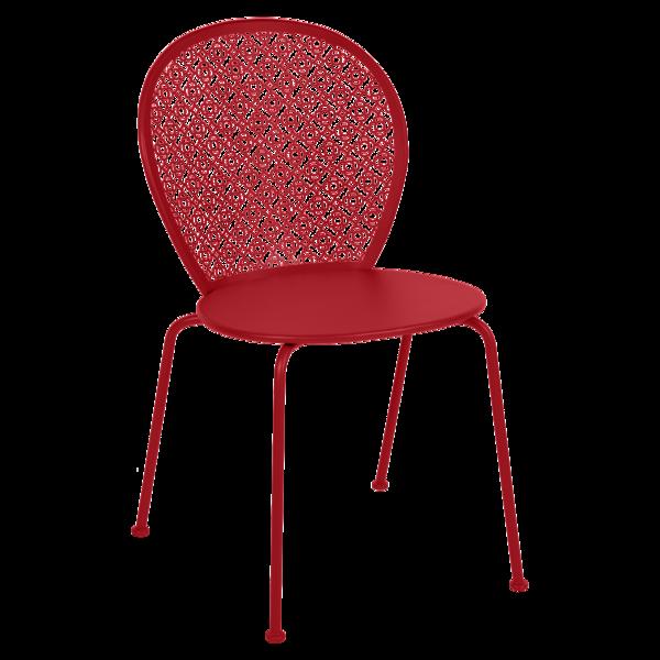 Chaise lorette coquelicot