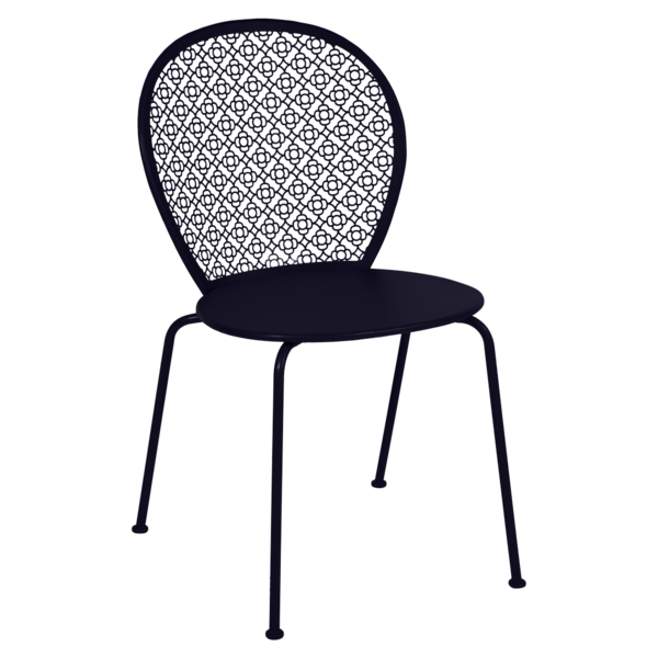 chaise fermob, chaise metal, chaise de jardin, chaise bleu, chaise lorette