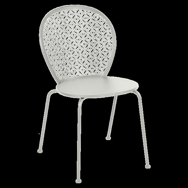 Chaise lorette gris metal