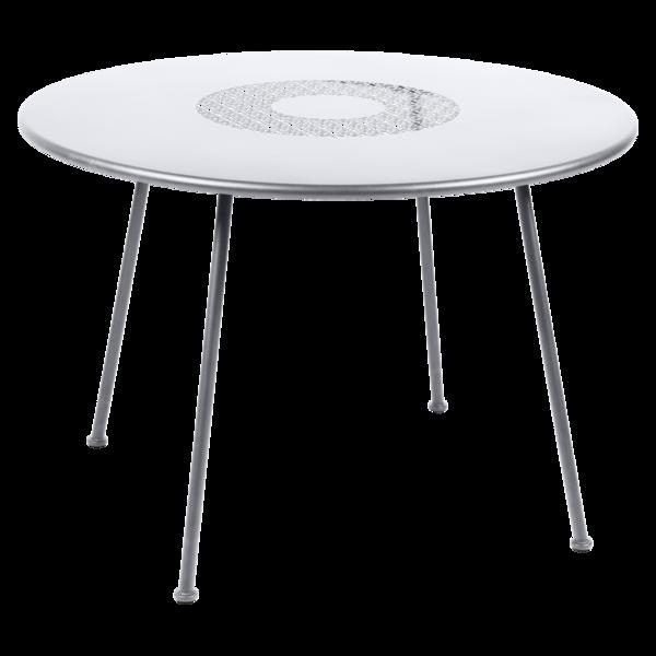 Table Ø 110 cm blanc coton