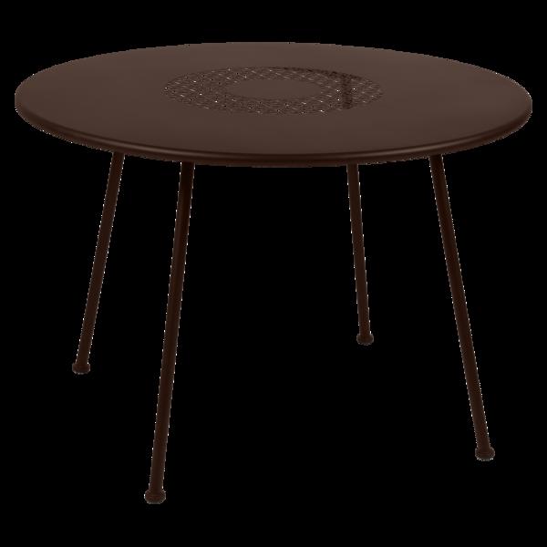 Table Ø 110 cm lorette rouille